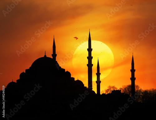 Leinwand Poster Suleymaniye Sunset