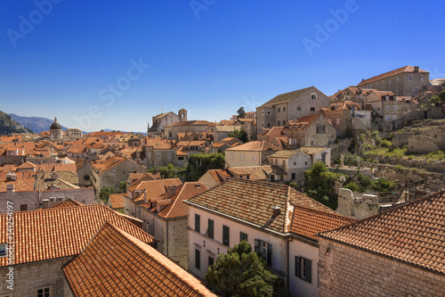 A view of Old Town Dubrovnik in Croatia Poster