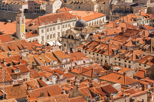 Rooftops of Old Town Dubrovnik in Croatia Poster