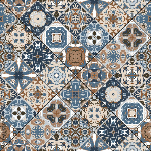 Abstract patterns in the mosaic set. - 141262765