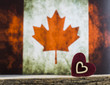 Canada Flag and Hearts