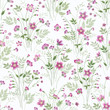 seamless floral pattern with spring bouquet