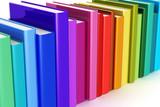 Rainbow color hardcover books