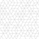 Fototapety Seamless black and white background for your designs. Modern vector ornament. Geometric abstract pattern