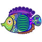 Exotic Fish Tattoo Decorative-3