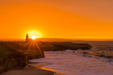 Amazing view of sunrise near Pacific coast, Santa Cruz, California