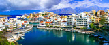 Landmarks of Greece - beautiful town Agios Nikolaos in Crete island