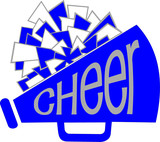 CHEER MEGAPHONE WITH POM - 141300517