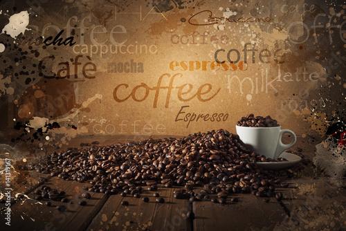 Papiers peints Café en grains Background of cup of coffee