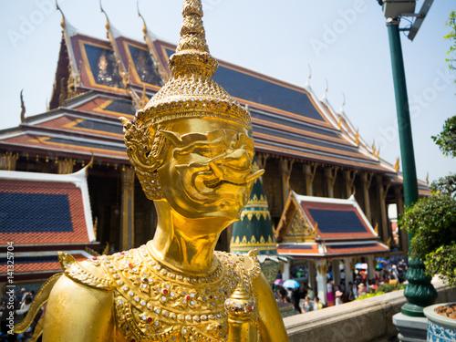 Poster Thai architecture,Wat Phra Kaew ,Bangkok,Thailand