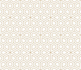 abstract geometric simple floral grid deco pattern