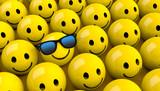 Smiley mit Sonnebrille - 141329740