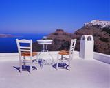 Sitzgruppe auf Santorin