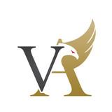 Logo Golden Valcon Letter VA Icon