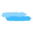 Two Blue Tint Brushstroke Paint
