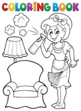 Coloring book with housewife 2