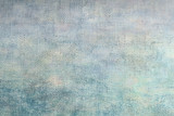 Light blue oil painting  background with brush strokes on canvas. Art abstract background. - 141352560
