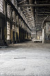 Moody Interior of Abandoned, Derelict Foundry in Ohio