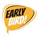 early bird retro speech balloon - 141358547