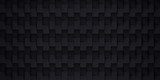 Volume realistic vector texture, black cubes, steps geometric pattern, design dark wallpaper