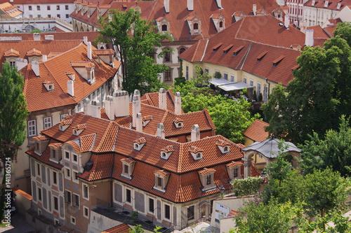 Poster Blick auf die Kleinseite von Prag
