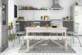Skandinavische, nordische Küche - Wohnung - 141383393