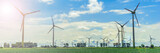 Wind power plants panorama