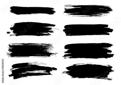 Fototapeta Set of paint elements isolated on white