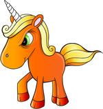 Angry Mean Unicorn Vector Illustration Art