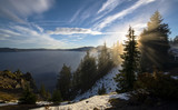 Crater Lake, Oregon - morning with fog