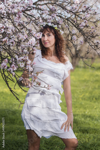 Poster fashion woman on nature
