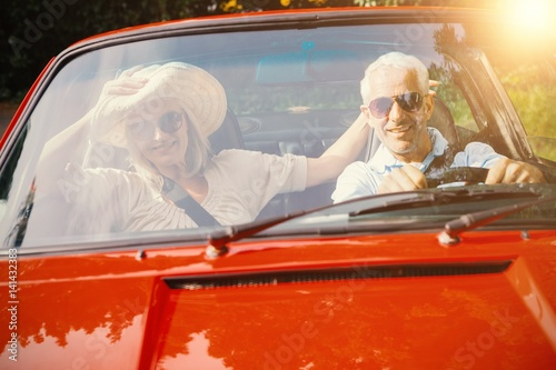 Couple doing a car trip