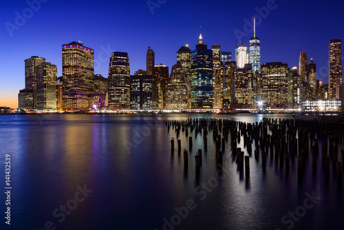 Skyline of New York Manhattan