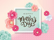 Mother's day greeting card with blossom flowers  - 141441199