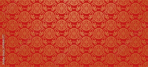 Fototapeta Red background. Chinese and Japanese style. Vector illustration