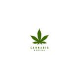 medical cannabis emblem, logo - 141449547