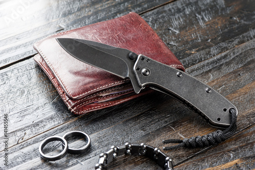 stainless steel pocketknife Poster
