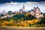 autumn view of Alcazar of Segovia