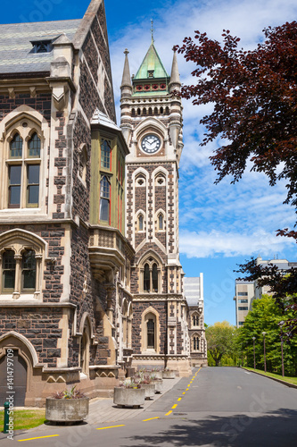 University of Otago Registry Building with clocktower, Dunedin, New Zealand Poster