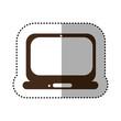 brown technology laptop service icon, vector illustration design
