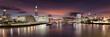 Die Skyline von London nach Sonnenuntergang