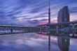 Tokyo Sky Tree and Sumida River, Tokyo, Japan at sunrise
