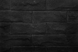 black brick wall for background and design.