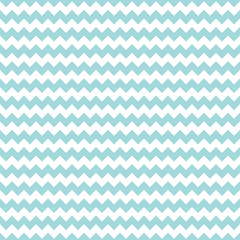 Retro Seamless Pattern Chevron Thick Turquoise Little