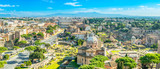 Panorama of Rome at a sunny summer day