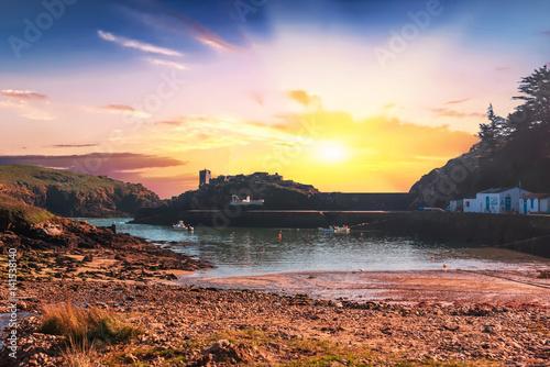 Fotobehang Zwavel geel port de la Meule