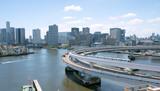 Tokyo Bay area and Yurikamome Train ゆりかもめ