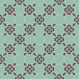 Mosaic - abstract, complex, geometric pattern (brown on a blue background)