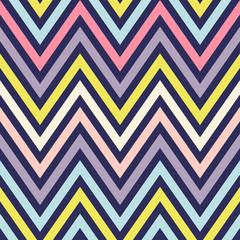 Seamless Vector Background Rainbow Chevron. Zigzag.