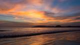 Colourful sunset on a tropical beach